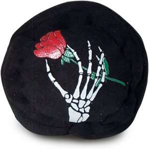Grateful Skeleton Rose Dead Black Footbag Hacky Sack reviews and user guide