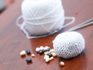 how to make crochet footbags
